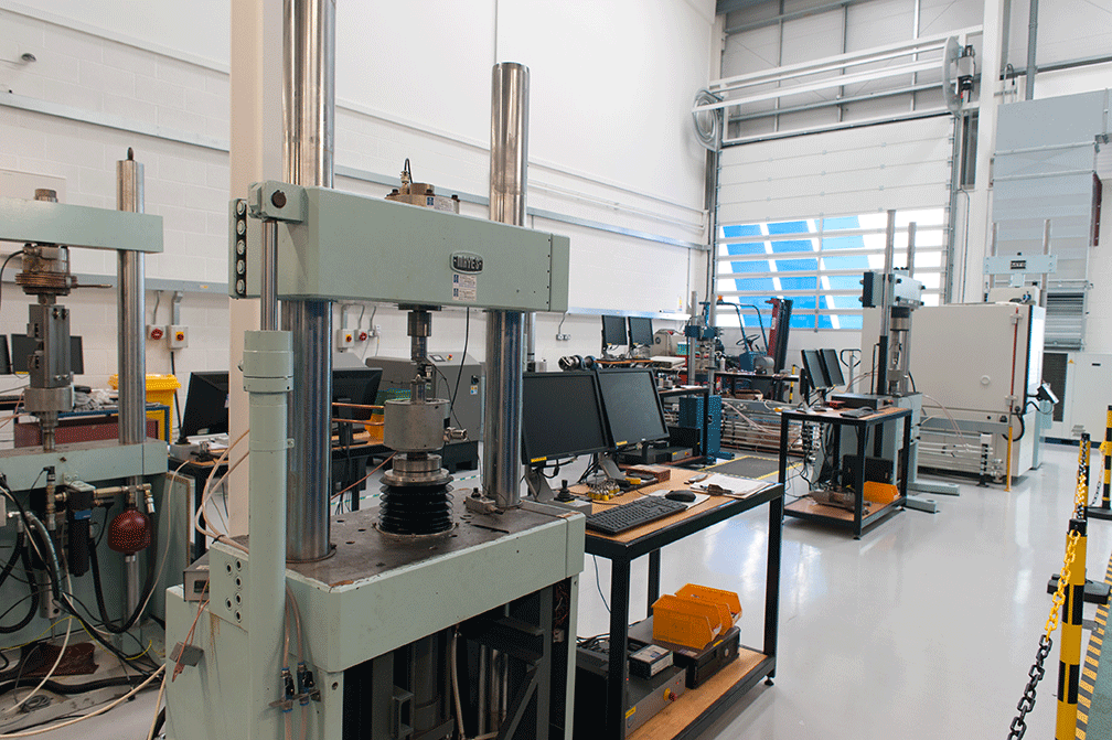 Materials testing lab operated by Prenscia under Hottinger Bruel and Kjaer UK Ltd